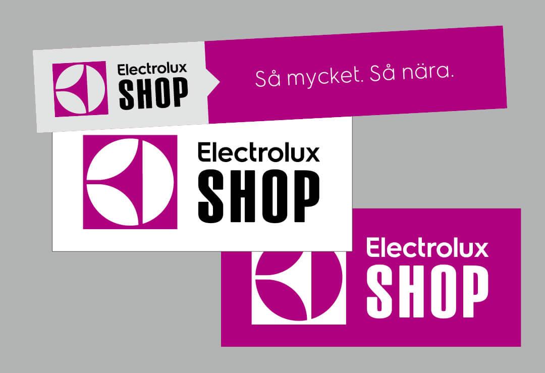TMG - Showroom - Electrolux Shop -  Skyltar