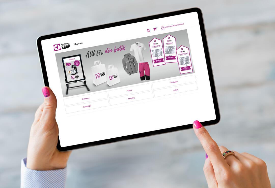 TMG - Showroom - Electrolux Shop - Webshop